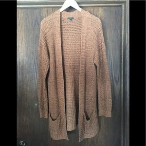 EXPRESS L Cardigan Burnt Orange